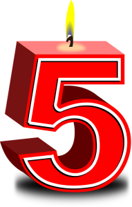 Celebrating 5 years of service